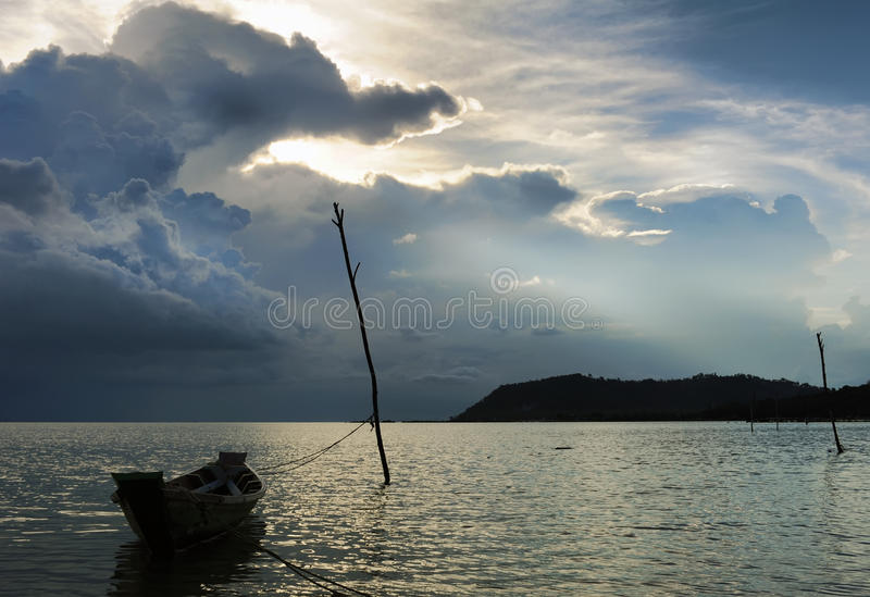 Download Storm clouds over the sea stock image. Image of blue - 19625143