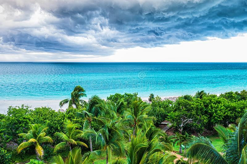 Storm clouds over the sea. Selective focus stock photos