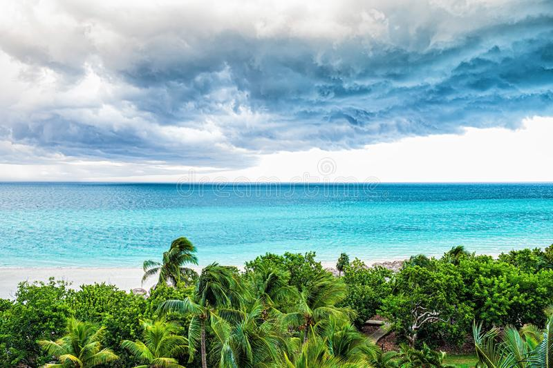 Storm clouds over the sea. Tropical weather royalty free stock images
