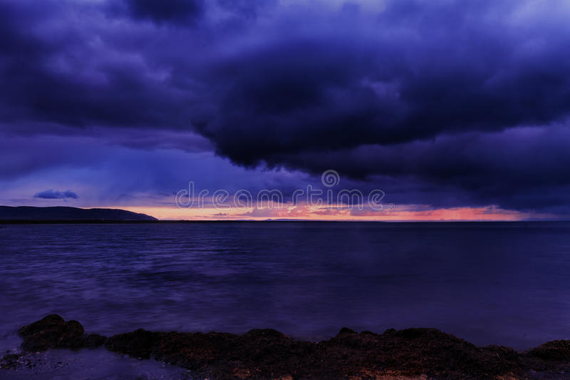 Storm clouds in Qinghai Lake royalty free stock image