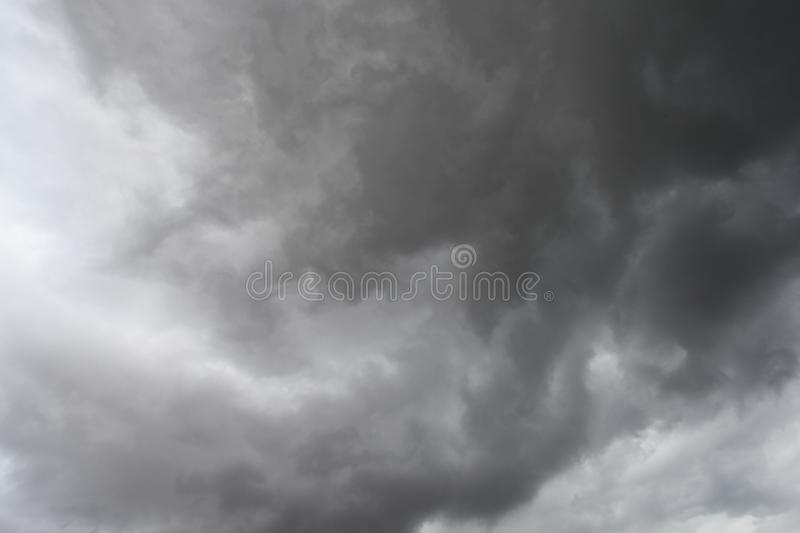 Storm clouds, rain and high winds. Unsettled weather front moving in stock images