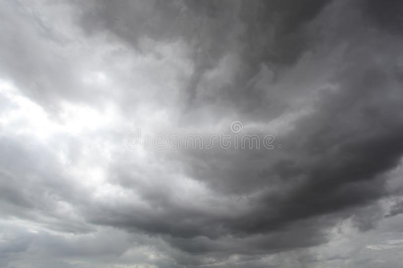 Storm clouds, rain and high winds. Unsettled weather front moving in stock photos
