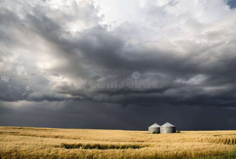 Storm Clouds Saskatchewan. Prairie scene Canada Farm royalty free stock image