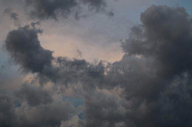 Storm clouds. The sky a background. Storm`s coming stock image
