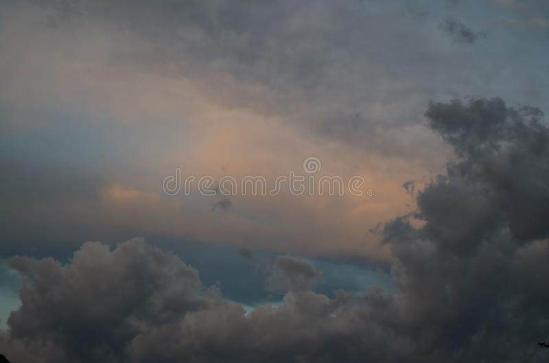 Storm clouds. The sky a background. Storm`s coming royalty free stock photo