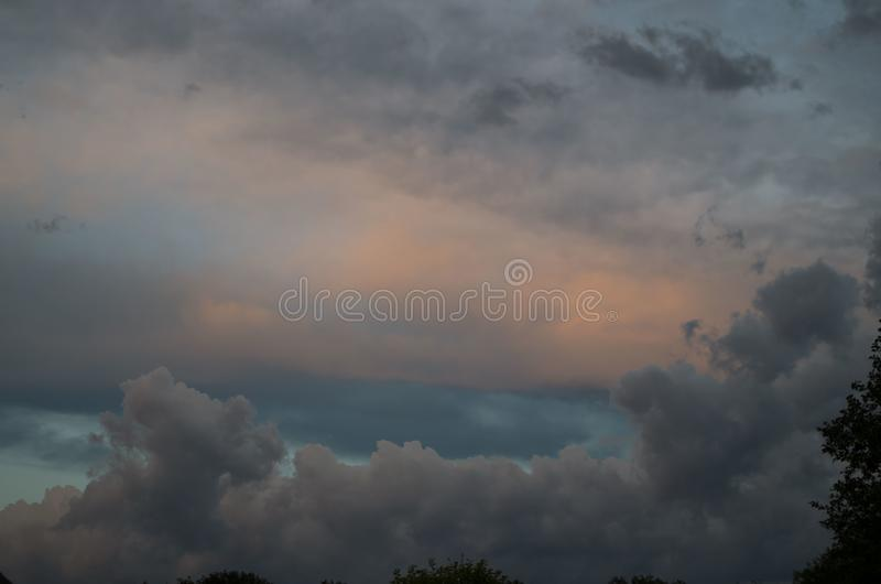 Storm clouds. The sky a background. Storm`s coming stock photo