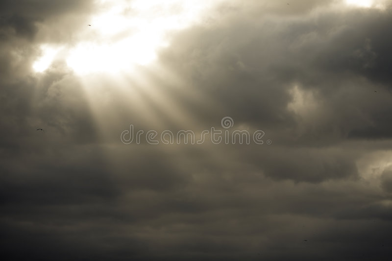 Download Storm Clouds With Sun Rays Stock Photos - Image: 7654193