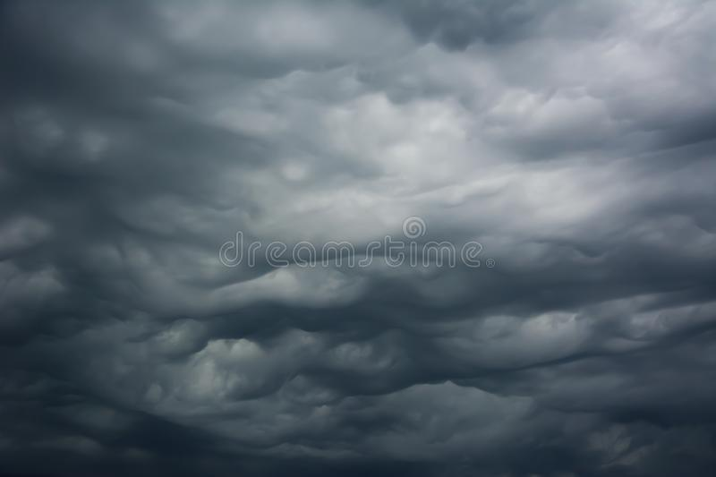 Storm clouds before a thunder-storm. stock photos