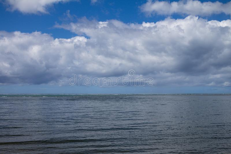 Storm clouds. Water in the form of steam in the sky royalty free stock photos
