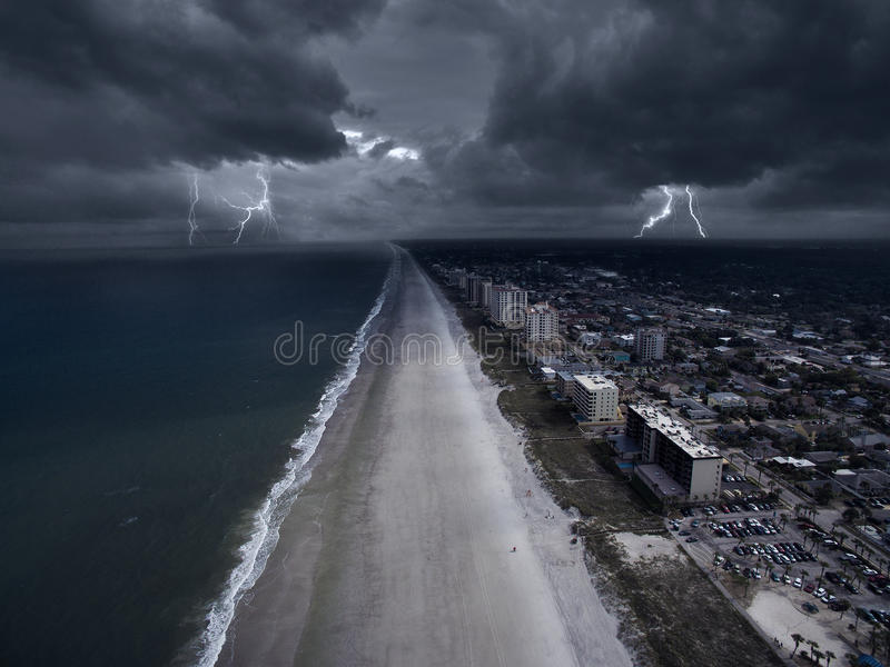 Storm in the coast of Florida stock image