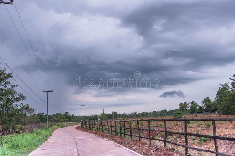 The storm is coming royalty free stock image