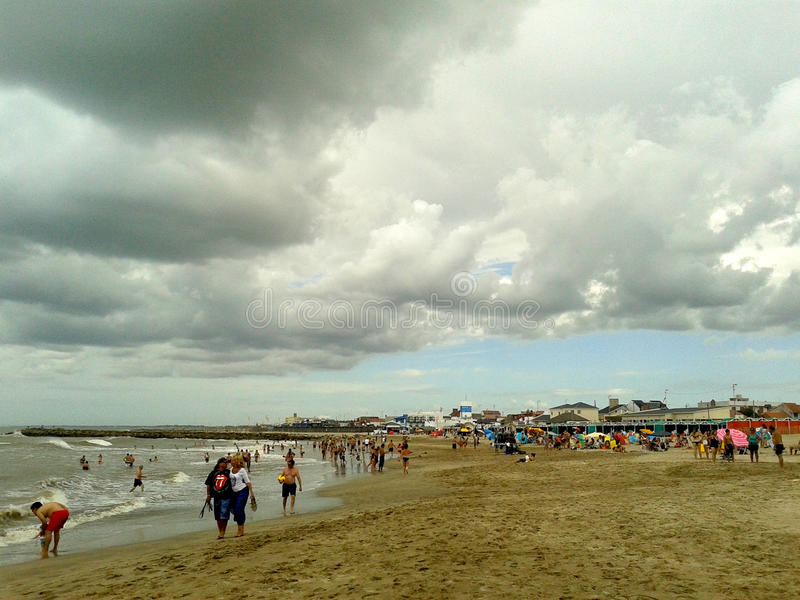 Storm is coming, Santa Clara, Buenos Aires, Argentina stock photography