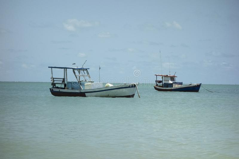 two boats stock image