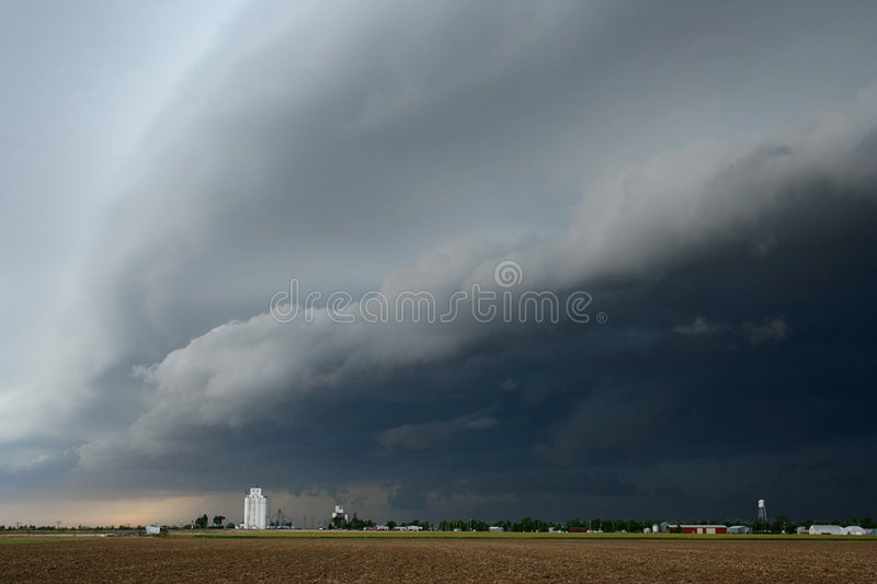Download Storm coming in to town stock image. Image of water, dark - 966895