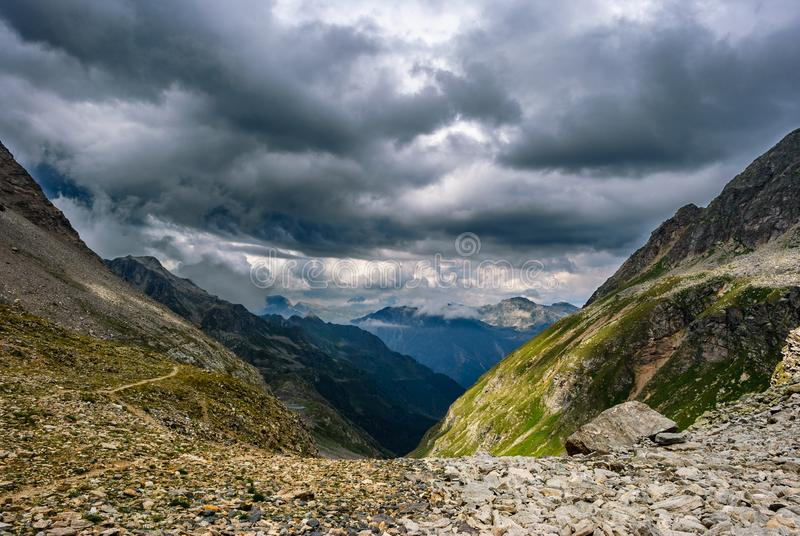 The storm is coming from the valley royalty free stock photos