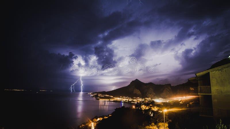 Storm in Croatia royalty free stock image