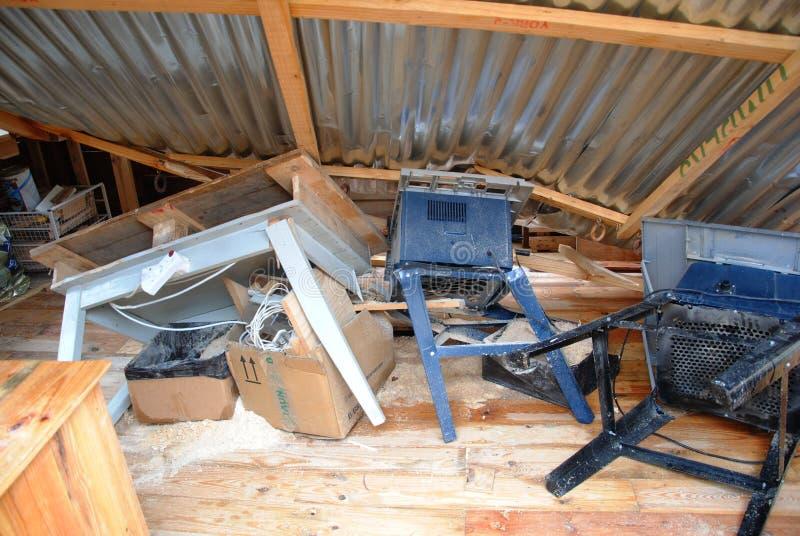 Storm damage 3 stock image