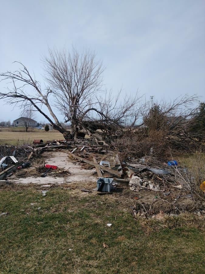 Storm damage stock photography