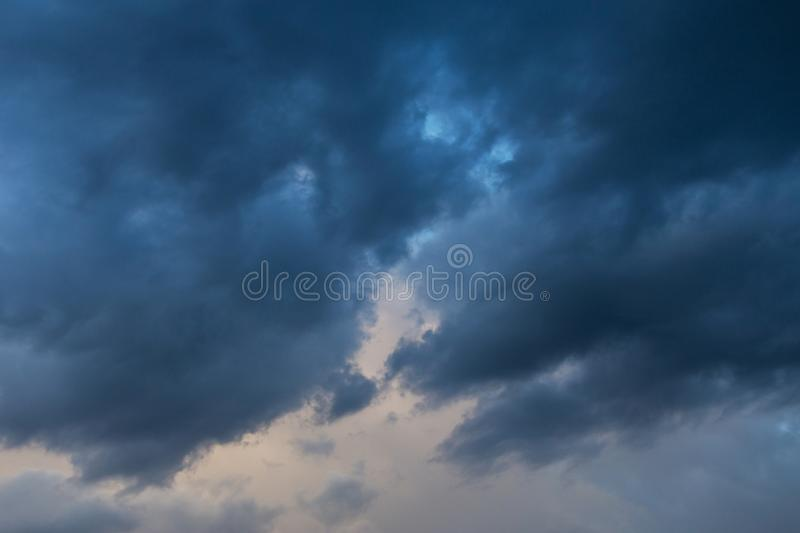 Storm dark blue clouds against sky background, texture. Storm dark blue clouds against sky background, heaven texture royalty free stock image