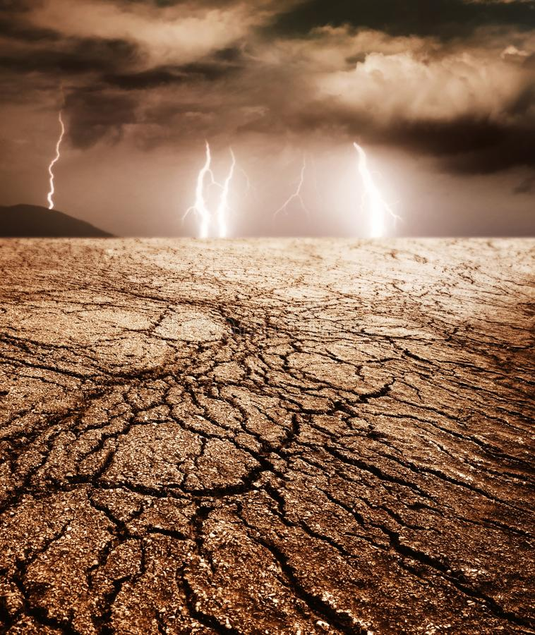 Download Storm in a desert stock photo. Image of natural, cracked - 17209002