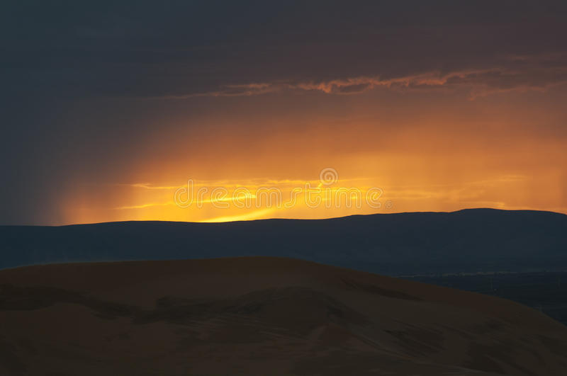 Download Storm in the desert stock photo. Image of dusk, colors - 83196276