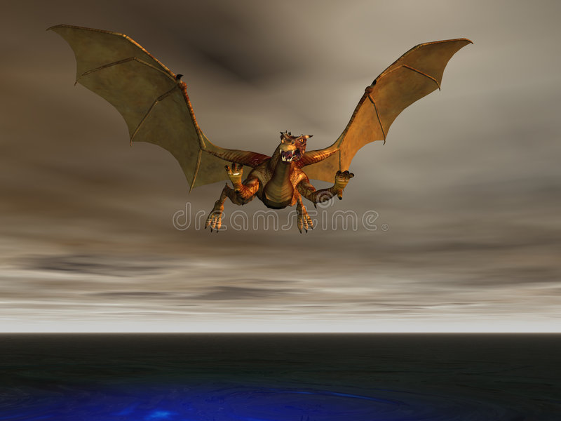 storm dragon ilustracji