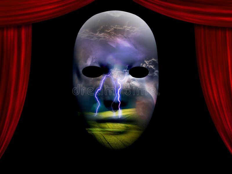 Storm Drama Dream Scene. High resolution Storm Drama Scene vector illustration