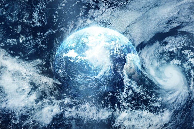 Storm on the earth, view from space, Original image from NASA royalty free illustration