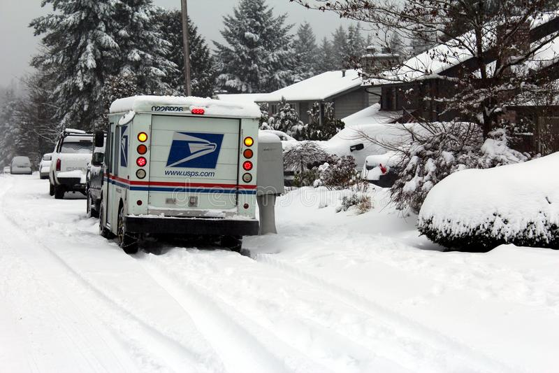 storm för leveranspostsnow royaltyfria foton