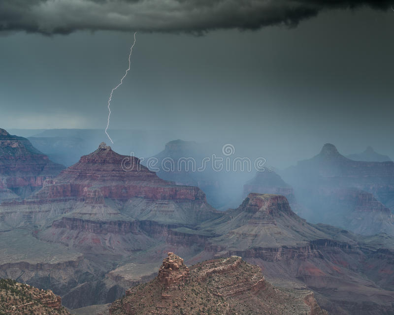 Storm in The Grand Canyon, Arizona. royalty free stock photography