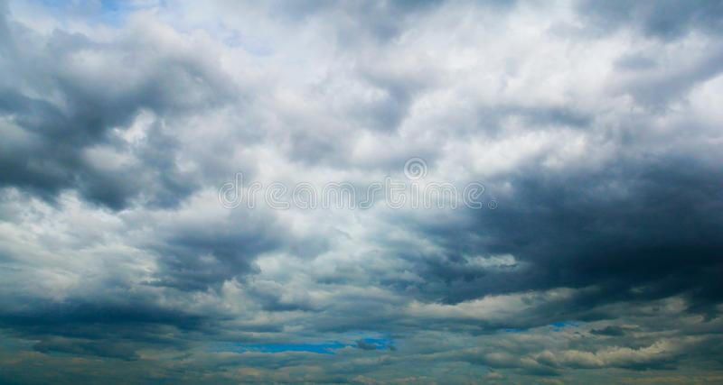 Storm gray sky. Rain is coming. stock photography