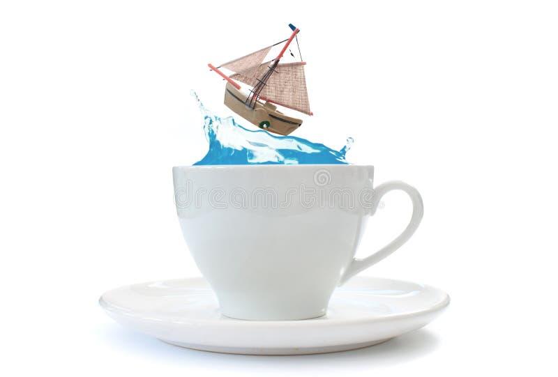 Storm i en teacup royaltyfria bilder