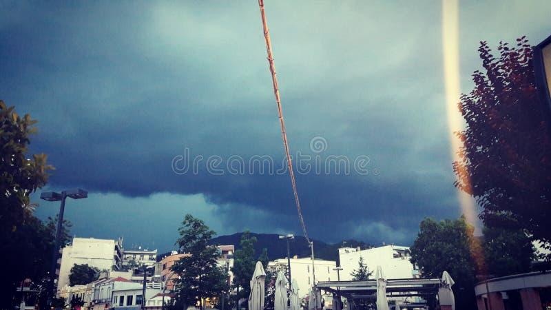 storm i Grekland royaltyfri foto