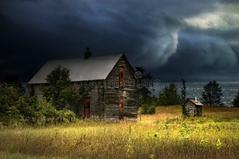 Storm komst stock afbeeldingen