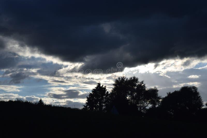 Storm komst royalty-vrije stock afbeelding
