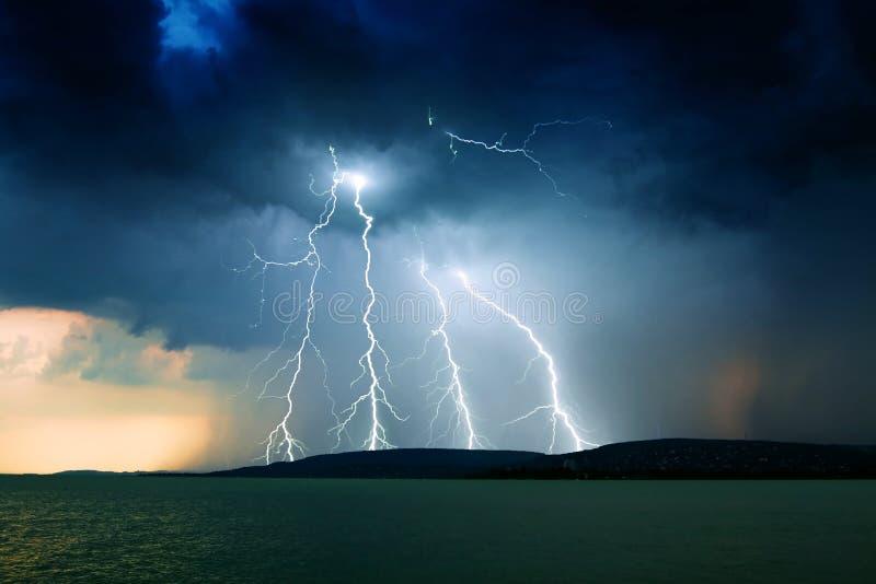 Storm lake stock image