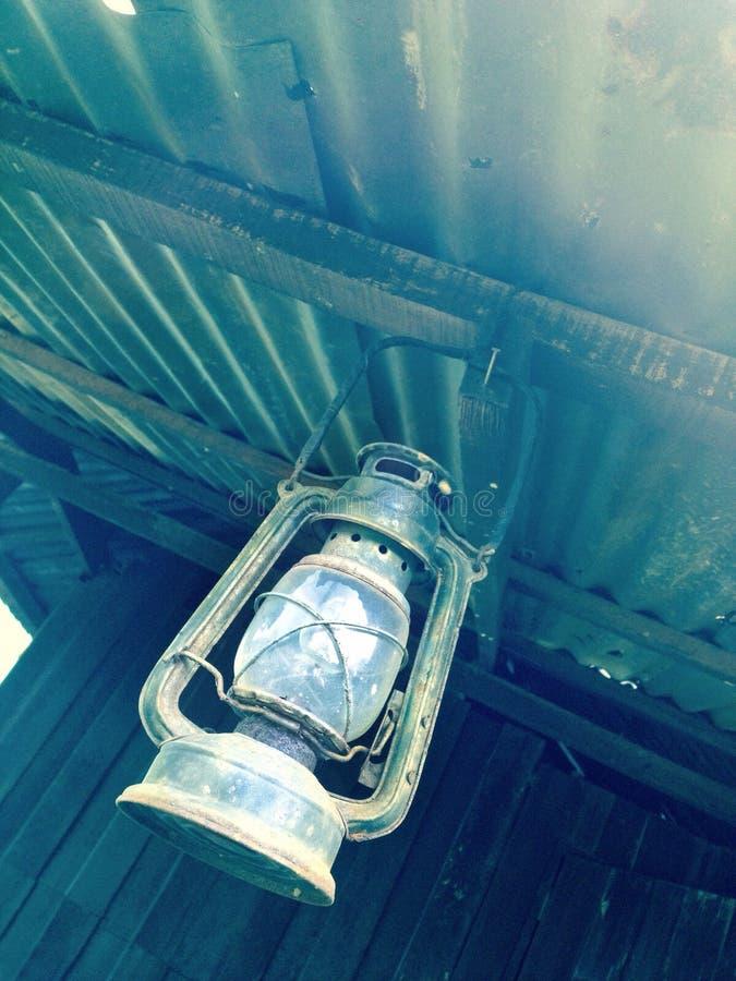 Storm lamp stock photo