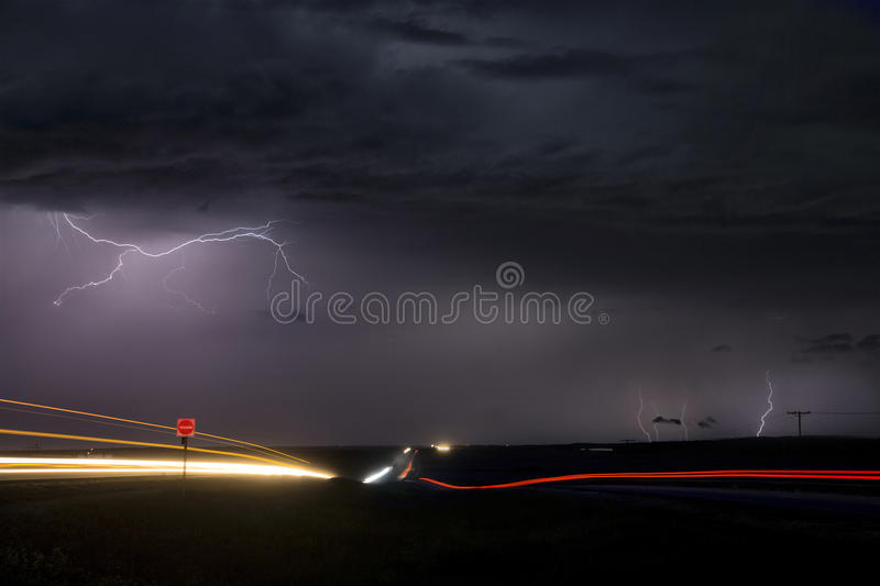 Storm Lightning Canada royalty free stock photos