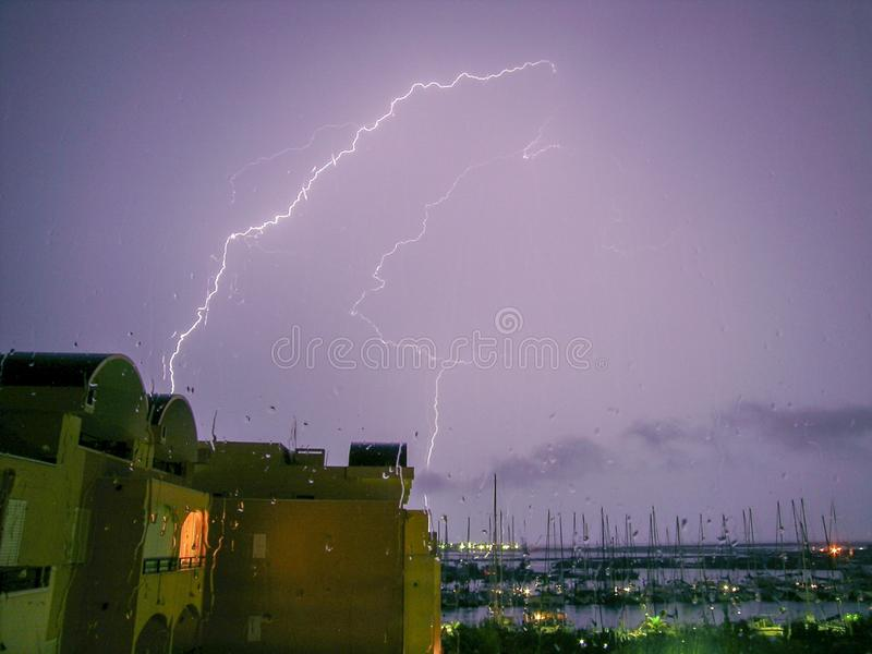 Storm. Llam relampago flash thunderbolt stock photos