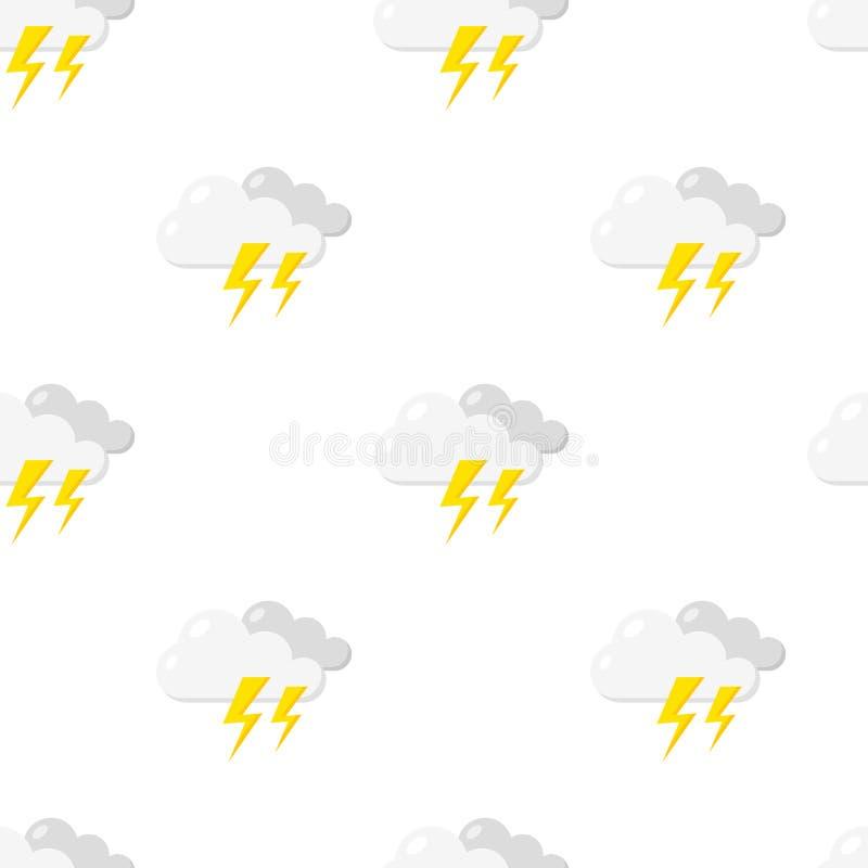 Storm med den sömlösa modellen för blixtsymbol stock illustrationer