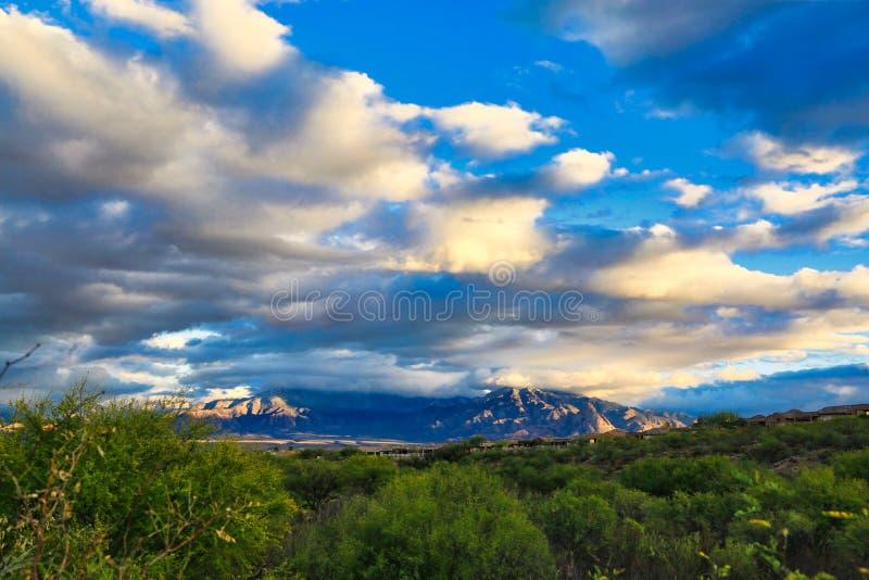 Storm mountains Arizona royalty free stock image