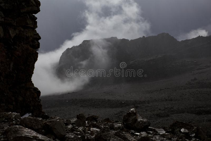 Storm mountains stock photography