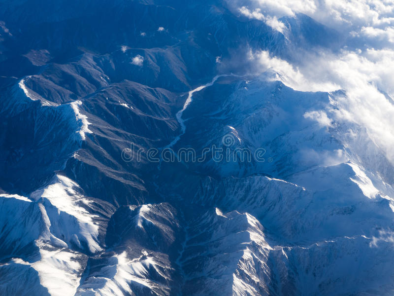 Storm in the Mountains stock images