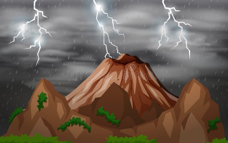 Storm night nature background royalty free illustration