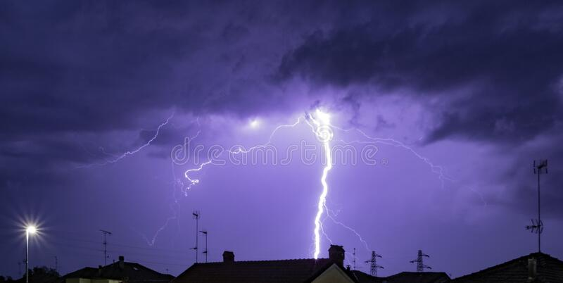 Storm by night royalty free stock photography