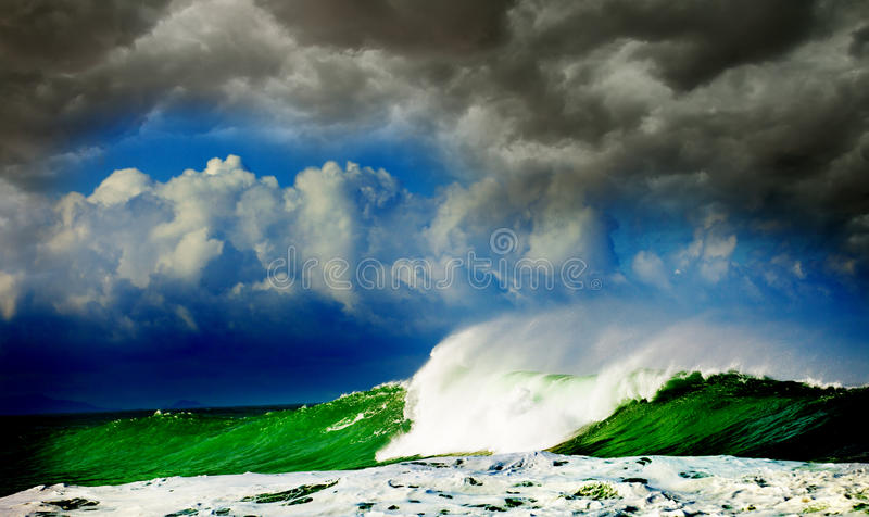 Storm in ocean royalty free stock photos