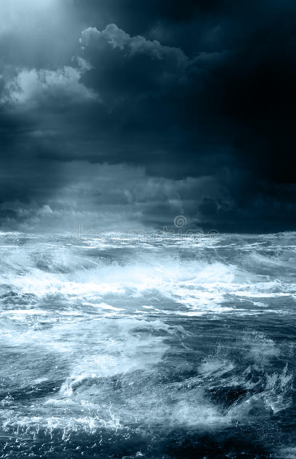 Storm on the ocean royalty free stock photography
