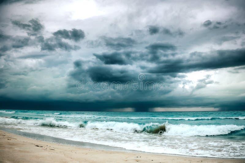 Storm in ocean royalty free stock image