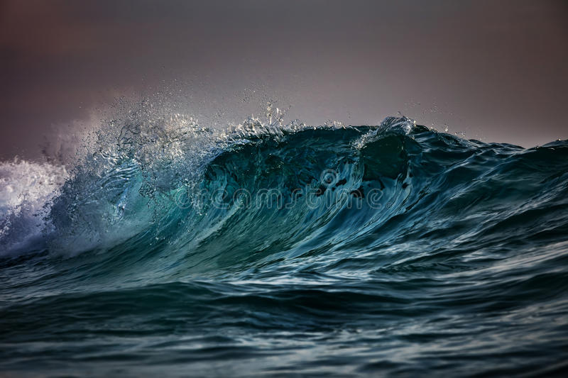 Storm at the ocean. Sea water in rough conditions royalty free stock photo