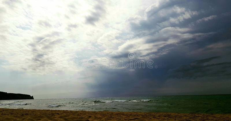 Storm on the ocean royalty free stock image